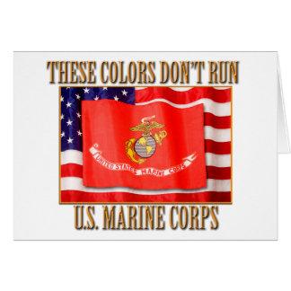 Tarjeta de felicitación del Cuerpo del Marines