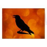 Tarjeta de felicitación del cuervo
