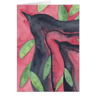 Tarjeta de felicitación del cuervo del alboroto