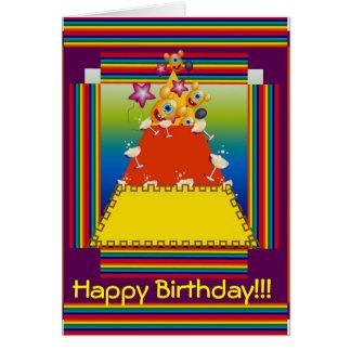 Tarjeta de felicitación del cumpleaños con diseño