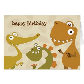 Tarjeta de felicitación del cumpleaños de la
