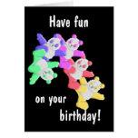Tarjeta de felicitación del cumpleaños de la panda