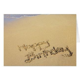 Tarjeta de felicitación del cumpleaños de la playa