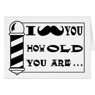 Tarjeta de felicitación del cumpleaños del bigote