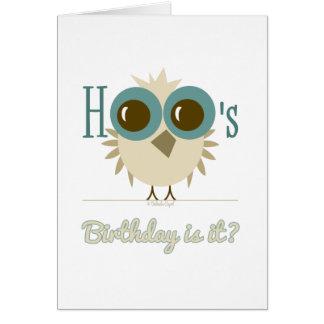 tarjeta de felicitación del cumpleaños del búho