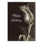 tarjeta de felicitación del cumpleaños del dibujo