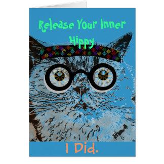 Tarjeta de felicitación del cumpleaños del hippy d