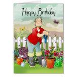 tarjeta de felicitación del cumpleaños del jardine