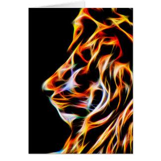 Tarjeta de felicitación del cumpleaños del león