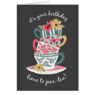 Tarjeta de felicitación del cumpleaños del tiempo