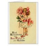 Tarjeta de felicitación del cumpleaños del Victori