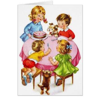 Tarjeta de felicitación del cumpleaños del vintage