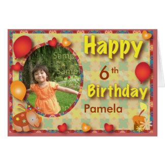 Tarjeta de felicitación del cumpleaños para todas