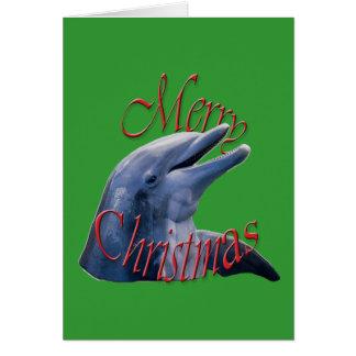 Tarjeta de felicitación del delfín del navidad