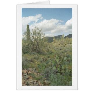 Tarjeta de felicitación del desierto del colorante