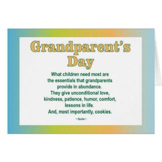 Tarjeta de felicitación del día 2 de los abuelos