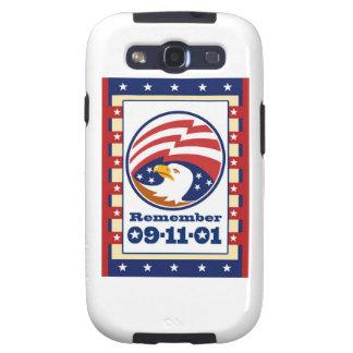 Tarjeta de felicitación del día 911 del patriota d galaxy SIII fundas