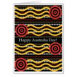 Tarjeta de felicitación del día de Australia, dise