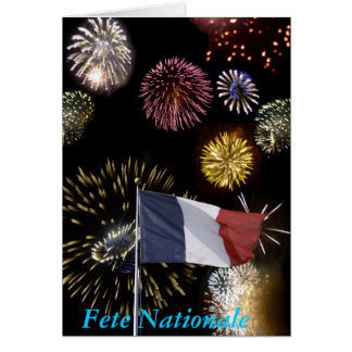 Tarjeta de felicitación del día de Bastille