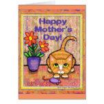 Tarjeta de felicitación del día de Cat Mother del