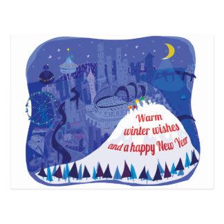 Tarjeta de felicitación del día de fiesta de tarjeta postal