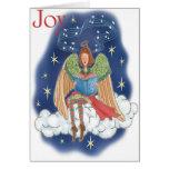 Tarjeta de felicitación del día de fiesta del ánge