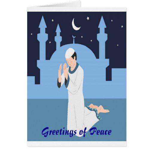 Tarjeta de felicitación del día de la paz