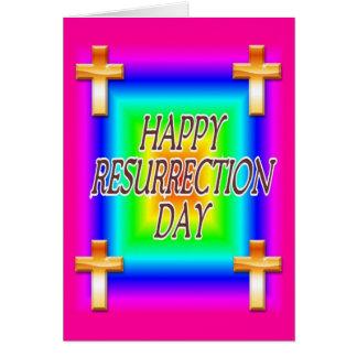 Tarjeta de felicitación del día de la resurrección