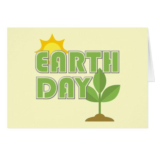 Tarjeta de felicitación del Día de la Tierra
