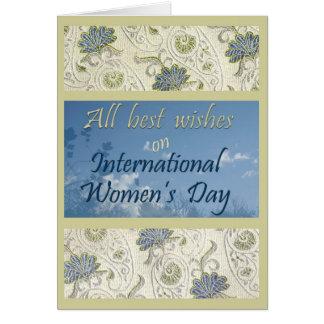 Tarjeta de felicitación del día de las mujeres int