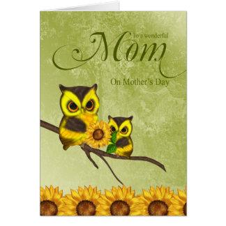 Tarjeta de felicitación del día de madre de la mam