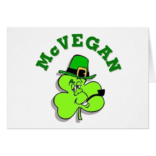 Tarjeta de felicitación del día de McVegan St Patr