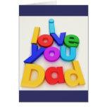 Tarjeta de felicitación del día de padre