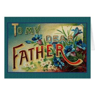 Tarjeta de felicitación del día de padre del Victo