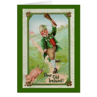 Tarjeta de felicitación del día de St Patrick del