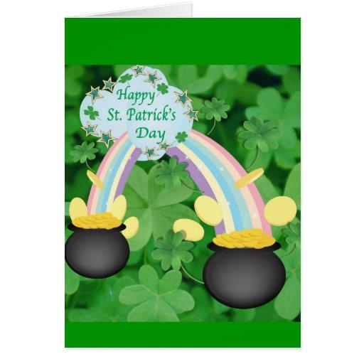 Tarjeta de felicitación del día de St Patrick feli