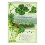 Tarjeta de felicitación del día del St Patricks