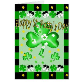 Tarjeta de felicitación del día del St. Patty