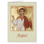 Tarjeta de felicitación del diaconato