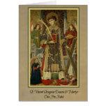 Tarjeta de felicitación del Diácono-Mártir del St.