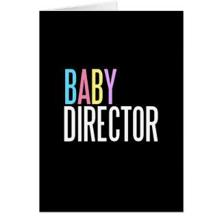 Tarjeta de felicitación del director del bebé