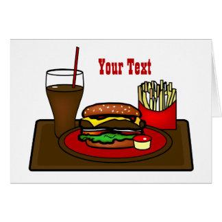 Tarjeta de felicitación del disco de la hamburgues