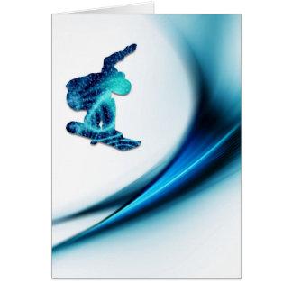 Tarjeta de felicitación del diseño de la snowboard