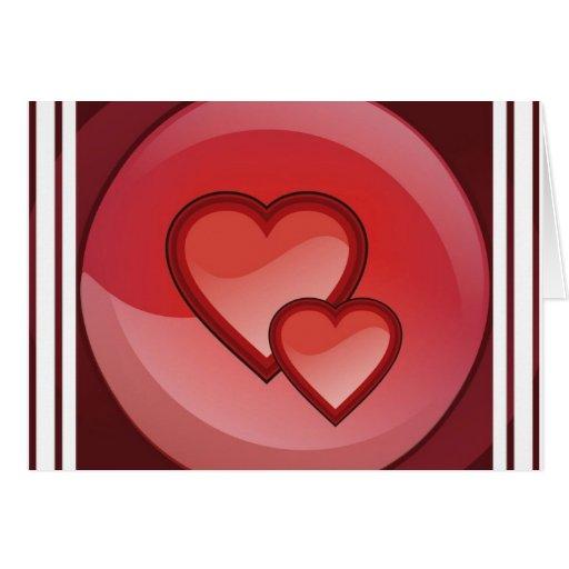 Tarjeta de felicitación del diseño del corazón