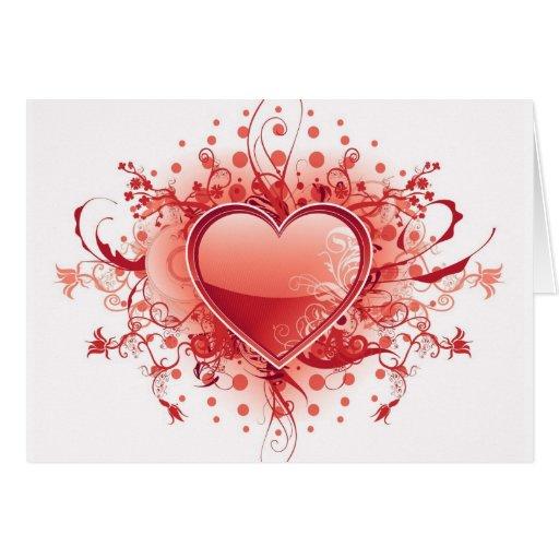 Tarjeta de felicitación del diseño del corazón de