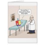 Tarjeta de felicitación del doctor Funny de Jánuca
