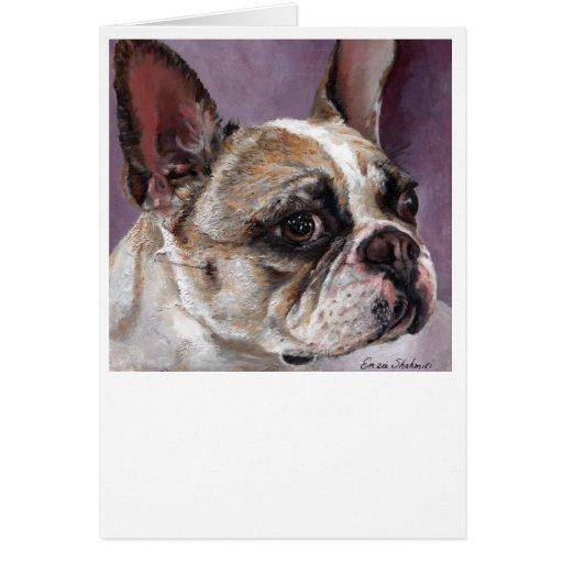 Tarjeta de felicitación del dogo francés