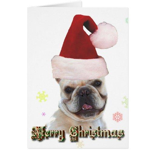 Tarjeta de felicitación del dogo francés del navid