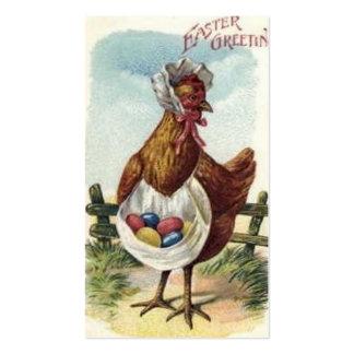 Tarjeta de felicitación del Doodle de Pascua del Tarjetas De Visita