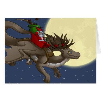Tarjeta de felicitación del dragón del navidad